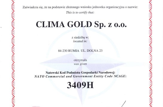 Certyfikat WCNJiK NCAGE1