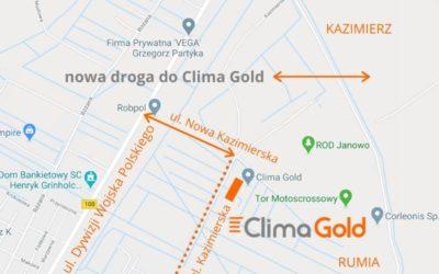 Nowa droga dojazdowa do Clima Gold