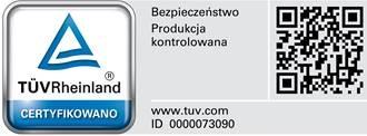 Nowe certyfikaty TÜV Rheinland oraz ISO 9001:2015